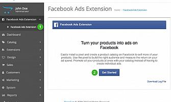 חיבור חשבון OpenCart שלך לפייסבוק